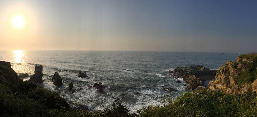 Sunrise at the easternmost point in Chiba